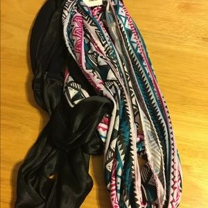 New Womens 2 Infinity Scarves Fashion Loop